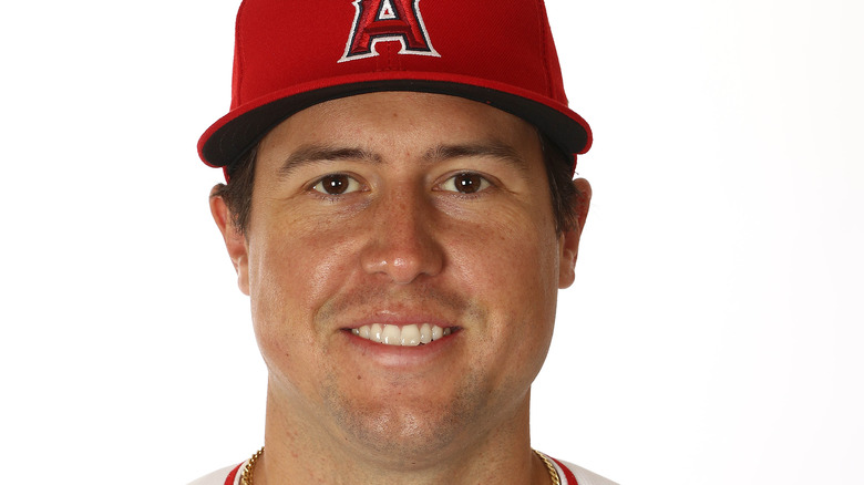 A close up of Tyler Skaggs