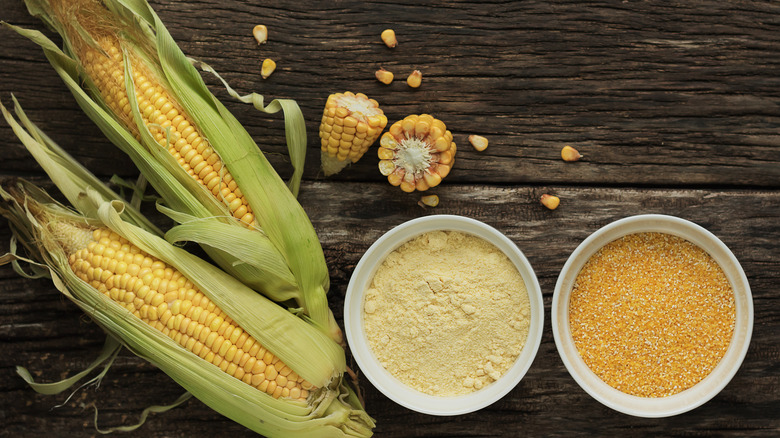 Two bowls of corn grits