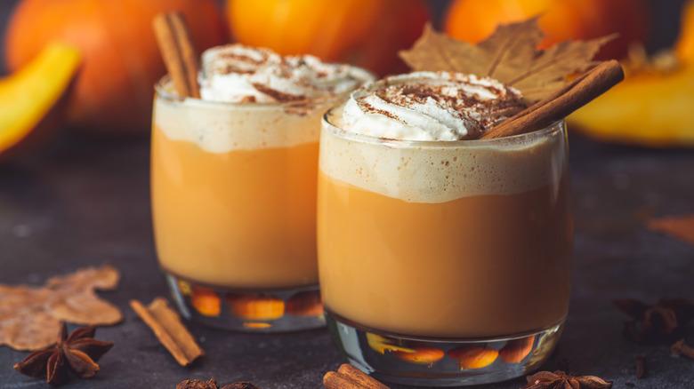 two pumpkin spiced lattes