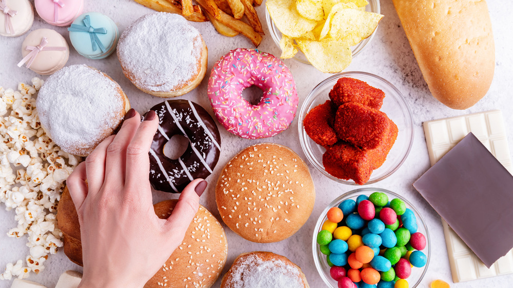 Donuts and other sugary foods