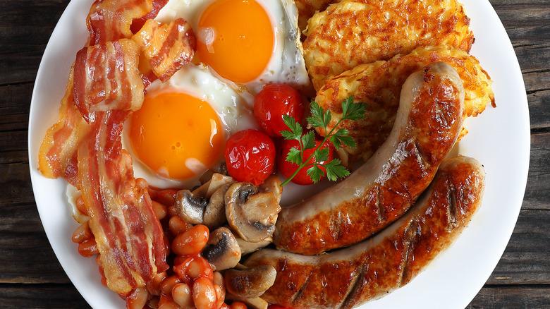 breakfast sausage bacon