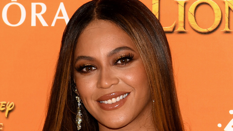 close-up of Beyonce