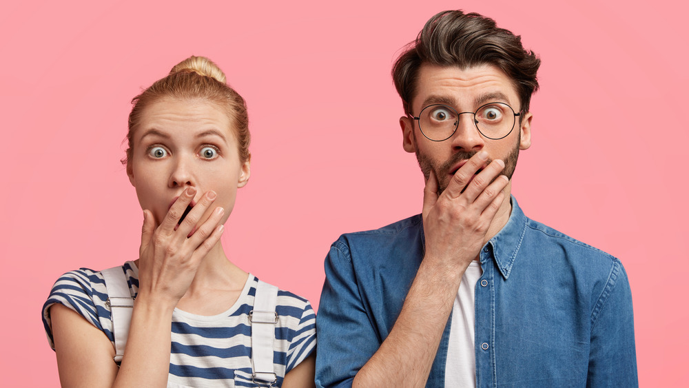 shocked man and woman