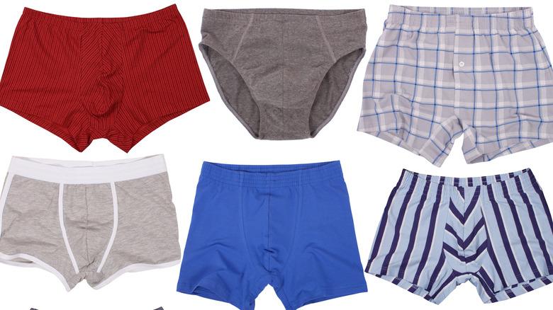 different types of men's underwear