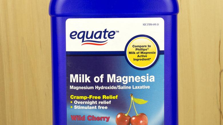 bottle of equate milk of magnesia