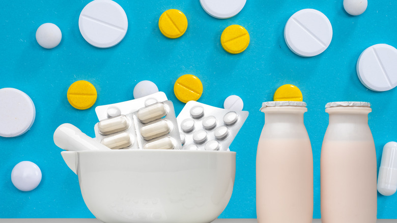 Probiotic drinks and supplements