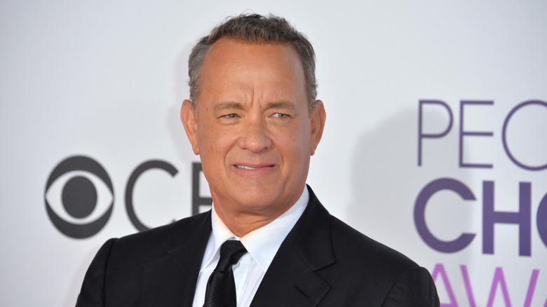 Tom Hanks in black suit