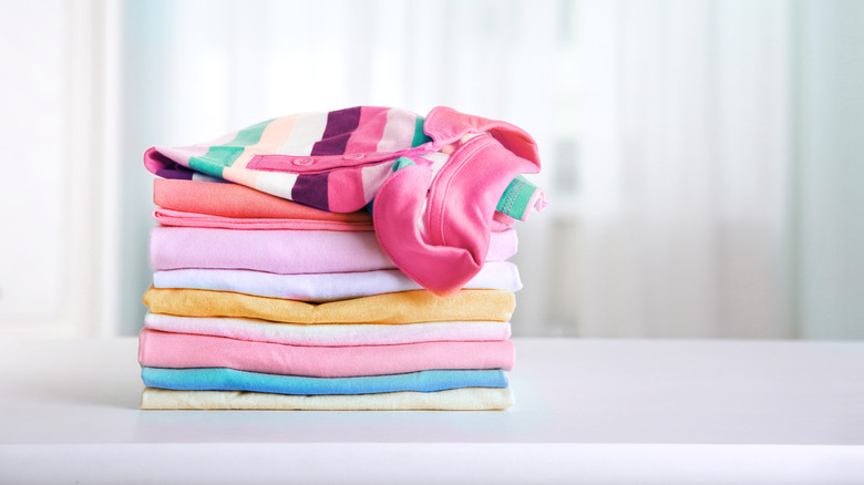 Pile of freshly folded laundry