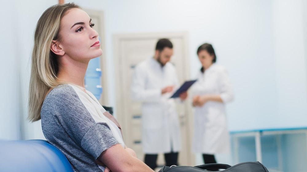 patient in waiting room