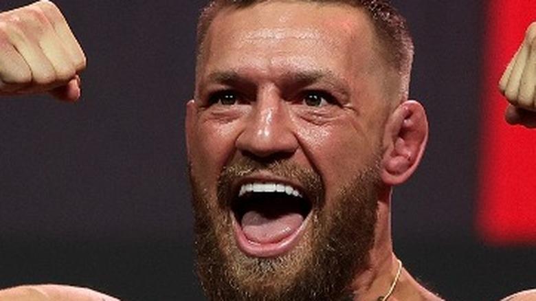 Conor McGregor smiling big