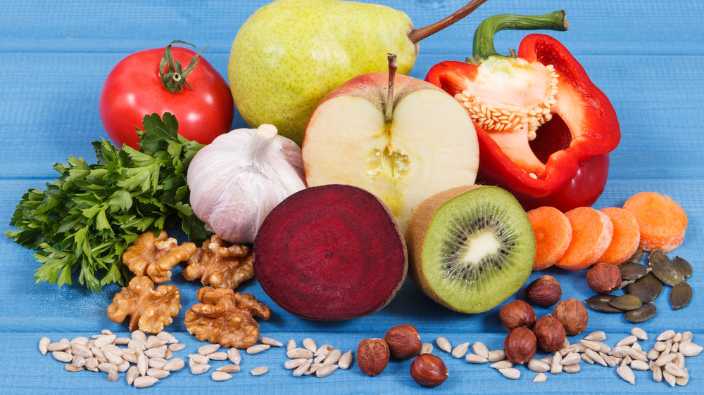 A variety of anti-inflammatory foods