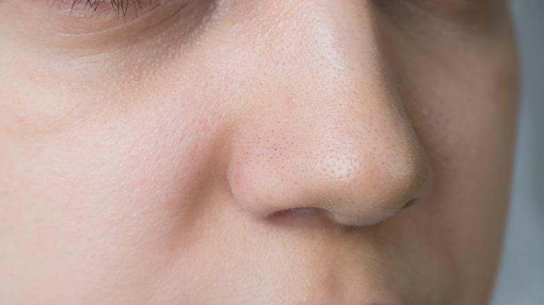 Close up of a nose