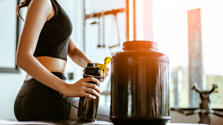 Protein powder for sports drink