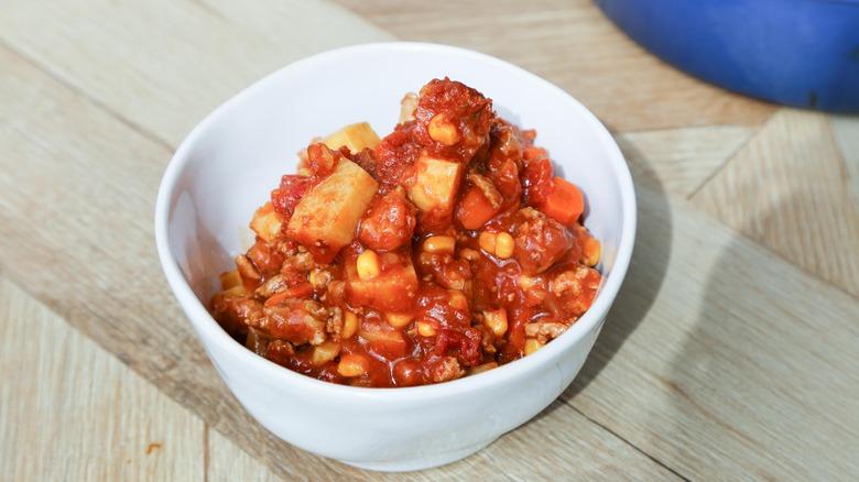 paleo chili in a bowl