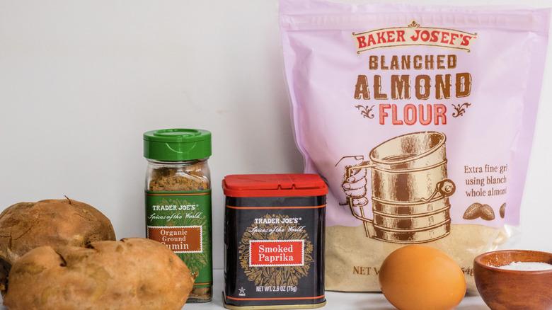 Sweet potato patty ingredients