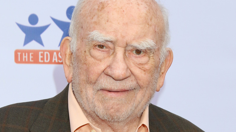Ed Asner at a poker tournament