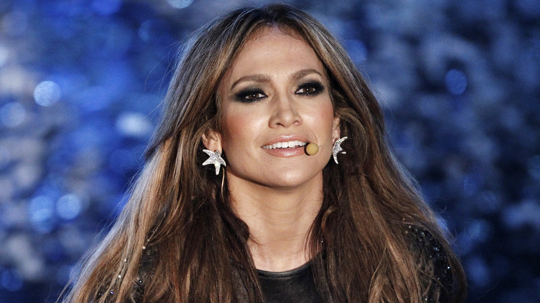 Jennifer Lopez performing at the Ariston Theatre in Italy in 2010