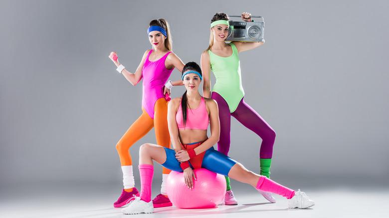 3 80s fitness ladies