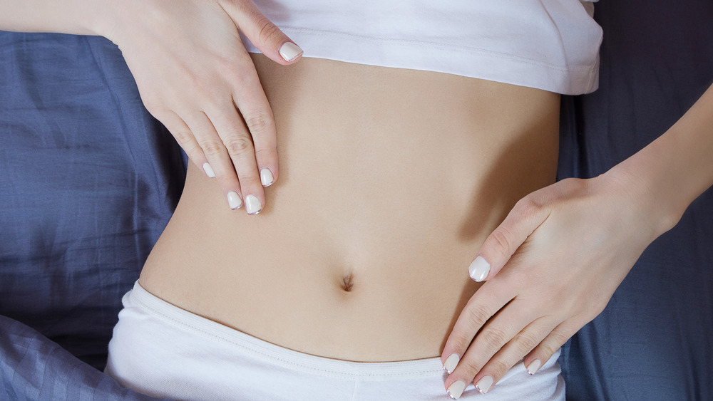 woman's stomach