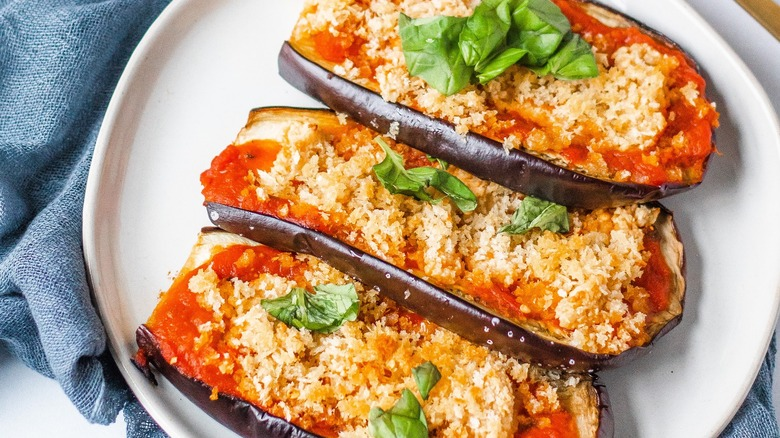 eggplant served