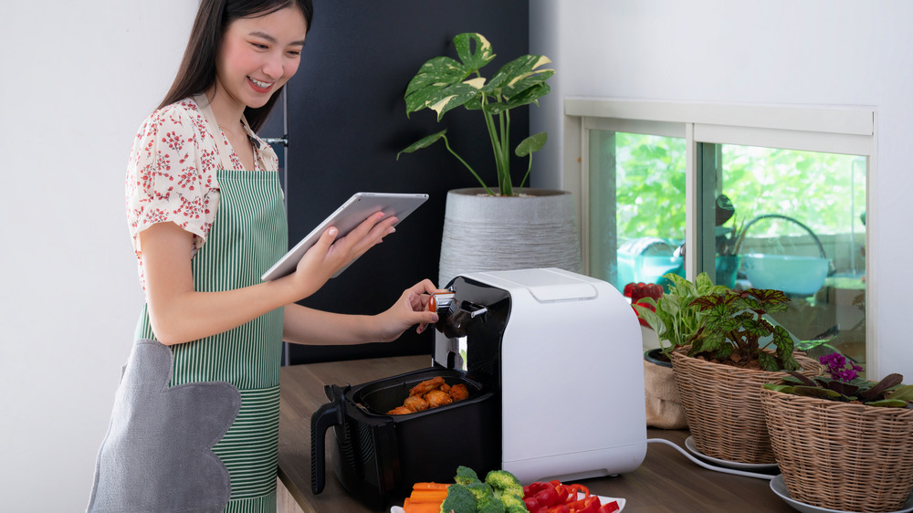 cooking up different dishes in air fryer