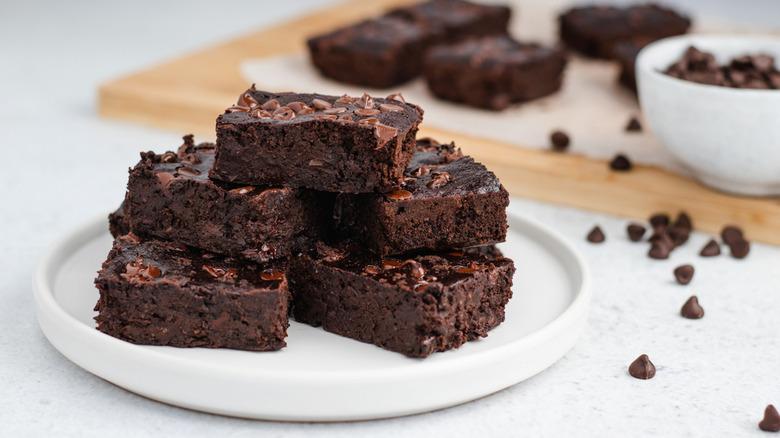 Healthy black bean brownies