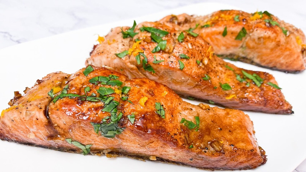 heart-healthy fish served