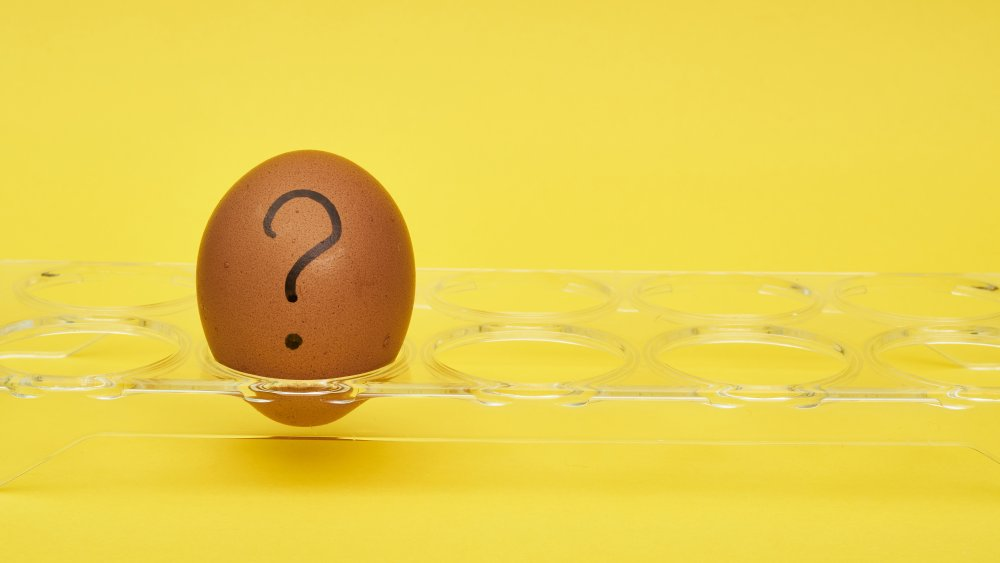 Egg with question mark