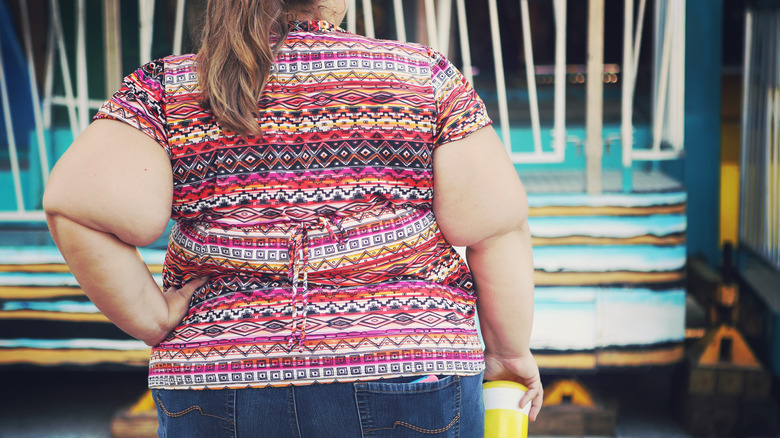 obese woman at carnival
