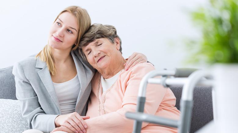 woman hugging older woman