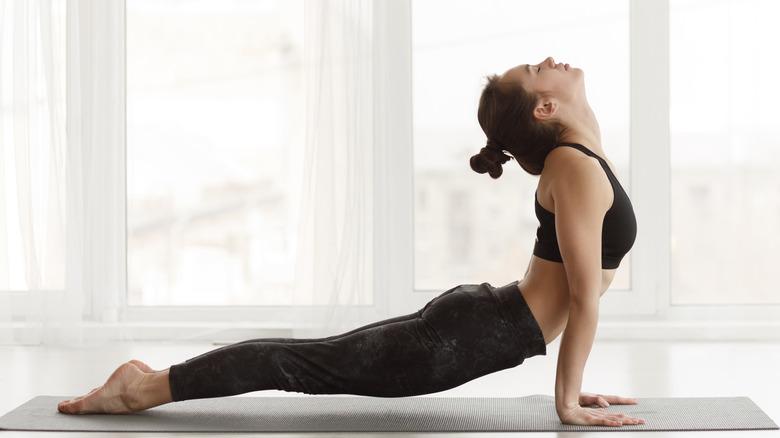 Yoga, upward facing dog