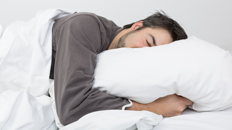 Man sleeping on his side
