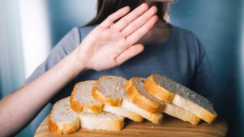 Girl refuses to eat white bread