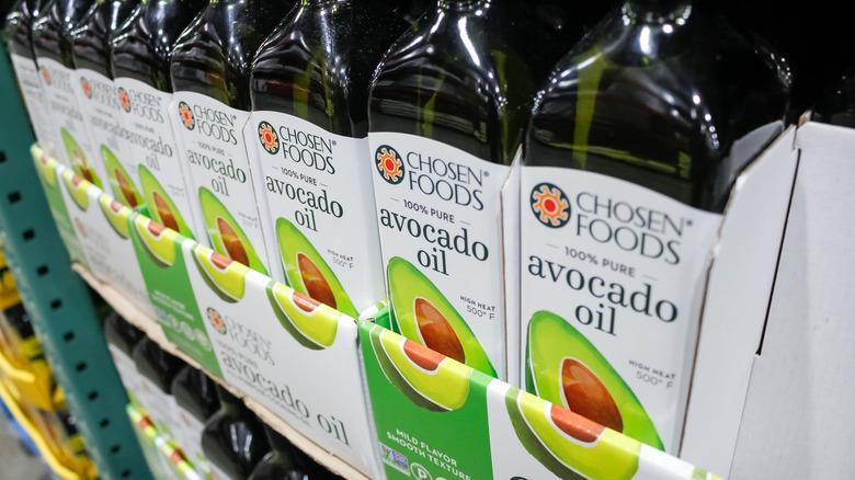 avocado oil on store shelf