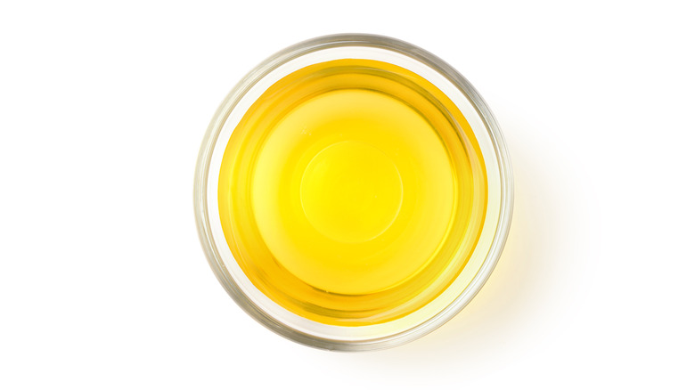 bowl of canola oil