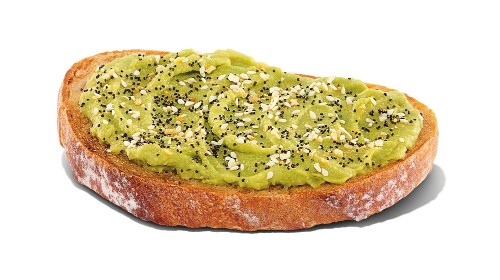 A close up of Dunkin's new Avocado Toast