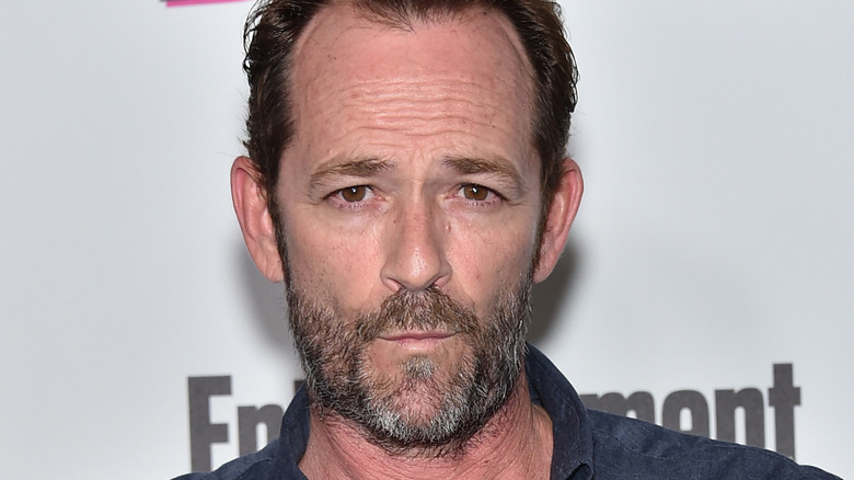 Close up of Luke Perry