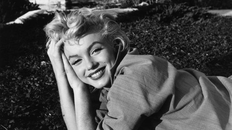 Marilyn Monroe smiles at the camera