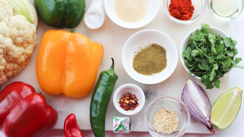 ingredients for cauliflower rice