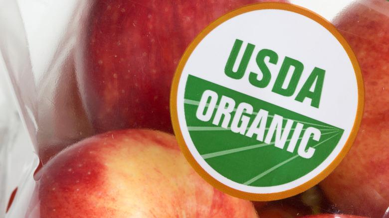 USDA Organic apples