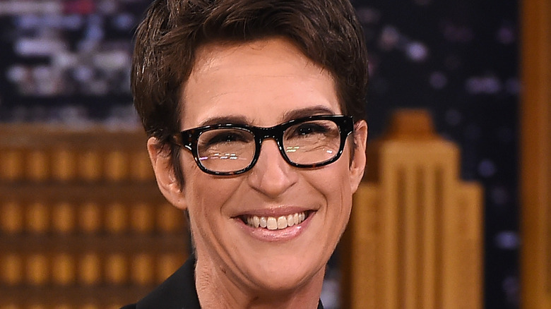 Close up of Rachel Maddow smiling