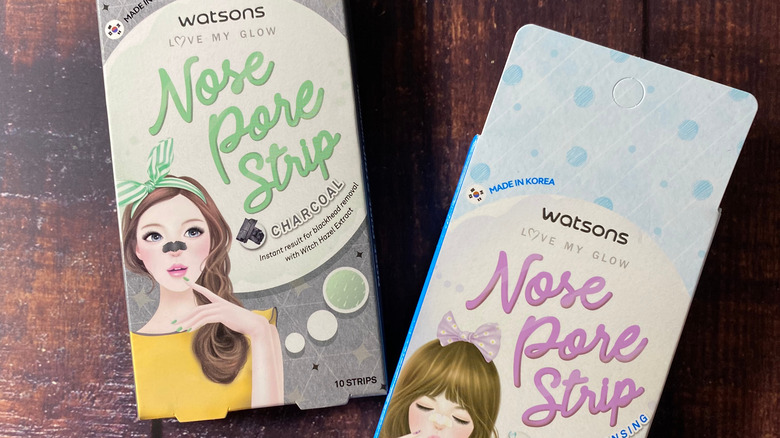 Two boxes of nose pore strips