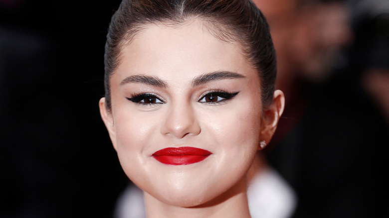 Close up of Selena Gomez