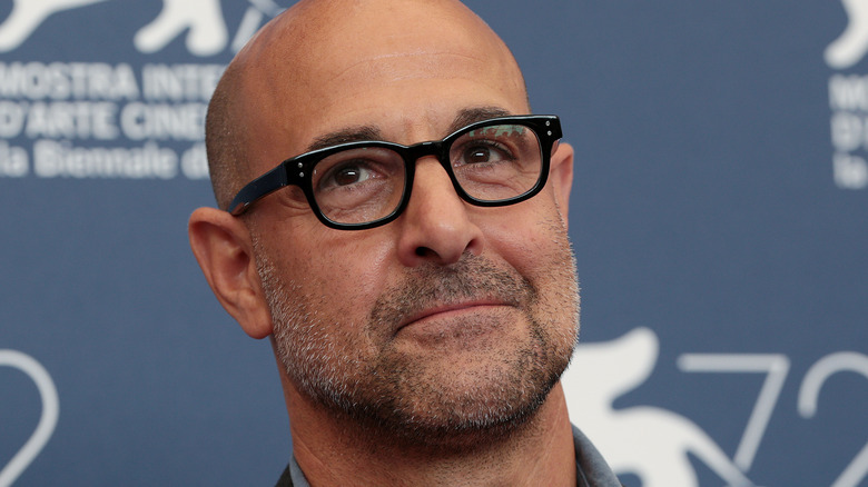 Close up of actor Stanley Tucci
