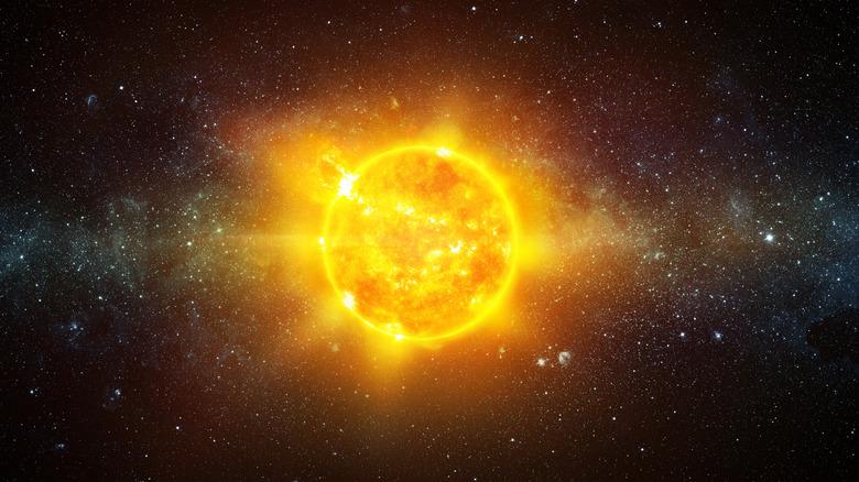 sunshine galaxy closeup