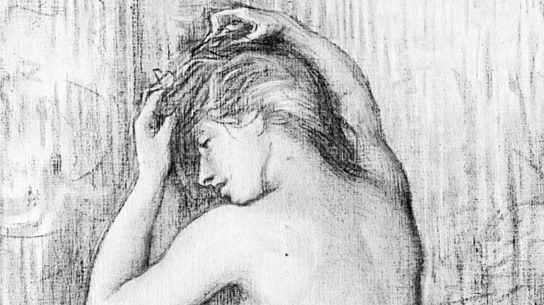 vintage drawing of woman
