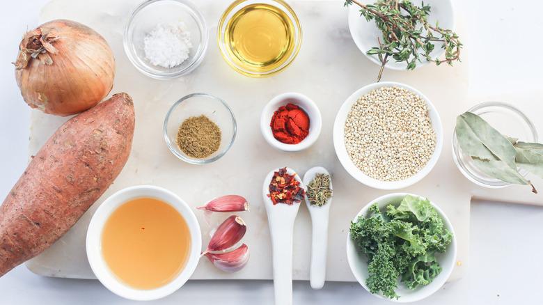 sweet potato kale soup ingredients