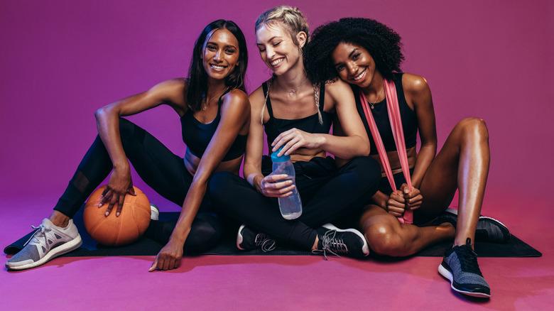 women in workout gear
