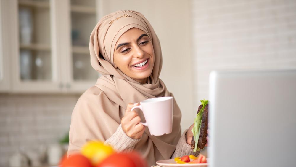 healthy food with tea