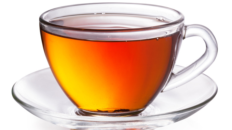 Cup of tea with white background